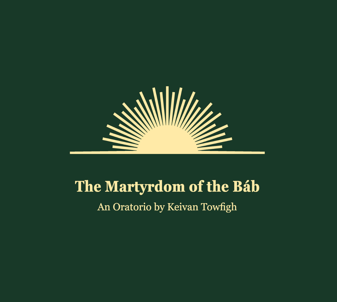 CD cover of The Martyrdom of the Báb